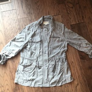 Anthropologie Marrakech lightweight jacket grey lg